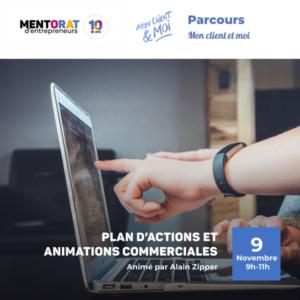 plan d'action et animations commerciales